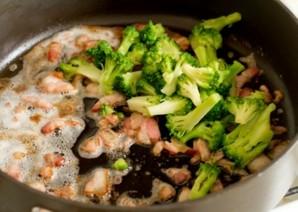 Сливочная паста с ветчиной и брокколи - фото шаг 3
