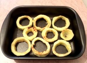 Кабачки с грибами в духовке - фото шаг 6