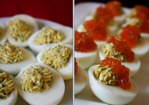 Яйца, фаршированные красной рыбой - фото шаг 5