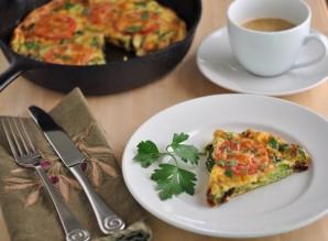 Омлет с брокколи и помидорами - фото шаг 8