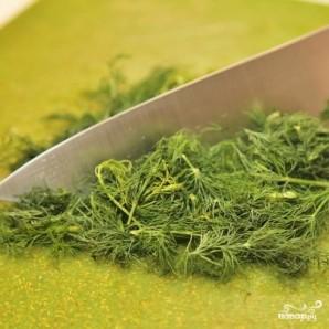 Зеленый салат с форелью - фото шаг 1