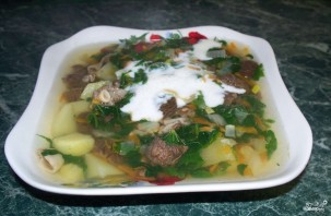 Суп из сморчков - фото шаг 9