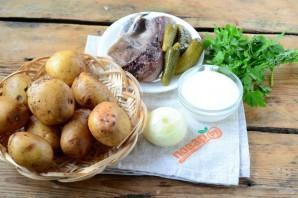 Печеный картофель с селедочным соусом - фото шаг 1
