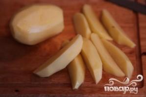 Тефтели с грибным соусом и картофелем по-деревенски - фото шаг 3