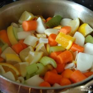 Курица с овощами в цитрусовом соусе - фото шаг 5