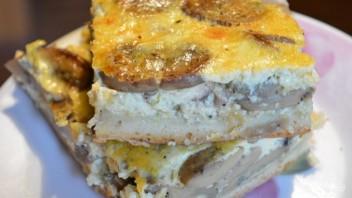 Открытый пирог с грибами и печенью на дрожжевом тесте  - фото шаг 10