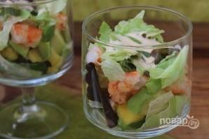 Салат с ананасами и креветками - фото шаг 10