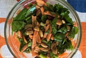 Салат с тыквенными семечками - фото шаг 5