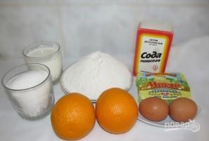 Кекс на кефире с апельсиновой цедрой - фото шаг 1