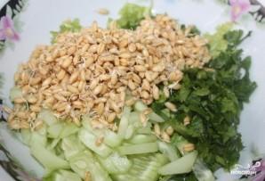 Салат с пророщенной пшеницей - фото шаг 4
