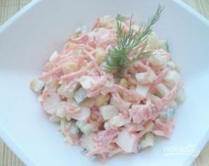 Салат с крабовыми палочками и морковью по-корейски - фото шаг 9