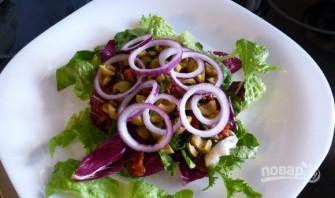 Салат с вялеными помидорами - фото шаг 3