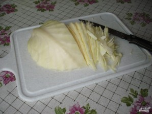 Капуста, тушеная с грибами - фото шаг 1