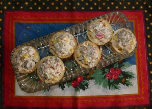 Салат с лисичками под сметаной - фото шаг 7