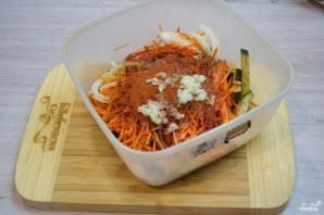 Синенькие с морковкой - фото шаг 3