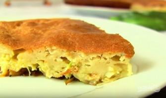 Ленивый пирог с капустой на кефире - фото шаг 7