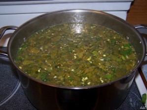 Суп со щавелем и курицей - фото шаг 7