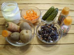 Слоеный грибной салат - фото шаг 1