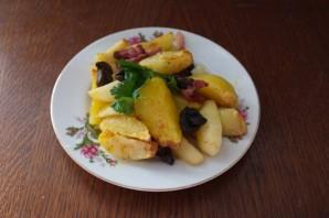 Картофель в духовке с белыми грибами и беконом - фото шаг 11