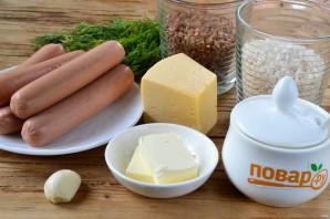 Запеченные сосиски с гречкой и рисом - фото шаг 1