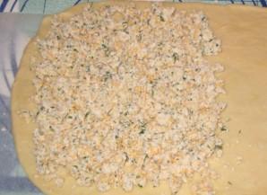 Пирог с колбасой и сыром - фото шаг 5
