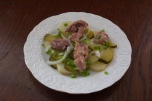 Салат из печени трески постный - фото шаг 8