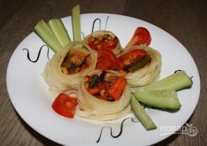Гнезда, фаршированные овощами - фото шаг 4
