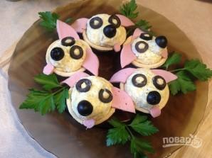 """Закуска в тарталетках """"Собачки"""" - фото шаг 8"""