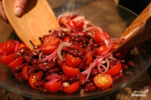 Постный салат с красной фасолью - фото шаг 3