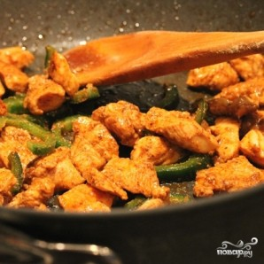 Рис с курицей и овощами - фото шаг 5