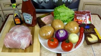 Супербургер от дяди Сэма - фото шаг 1