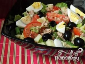 Овощной салат с тунцом - фото шаг 5