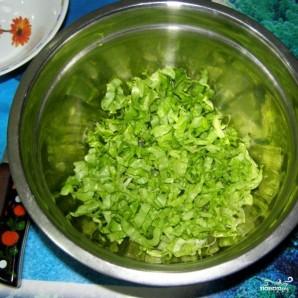 Салат с сухариками - фото шаг 4