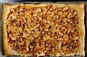 Открытый яблочный пирог из слоеного теста - фото шаг 4
