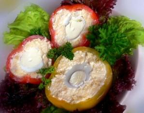 Перец, фаршированный сыром и яйцом - фото шаг 5