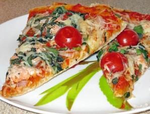 Пицца с красной рыбой - фото шаг 9
