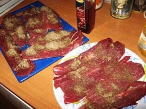 Бастурма из свинины в духовке - фото шаг 1