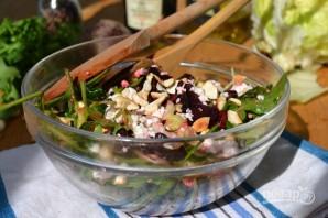 Салат из рукколы с кедровыми орешками - фото шаг 4