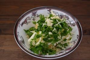 Батон с сыром и зеленью - фото шаг 3