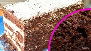 "Шоколадный бисквит ""На раз, два, три"" - фото шаг 9"