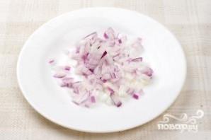 Салат с оливками - фото шаг 4