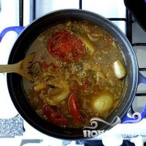 Суп с запеченными баклажанами и помидорами - фото шаг 3