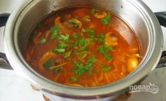 Суп с томатной пастой и лапшой - фото шаг 4