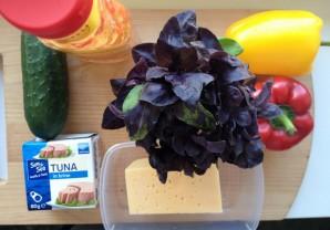Диетический салат с тунцом - фото шаг 1