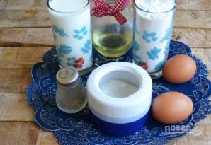 Запеченные блины с курицей и шампиньонами - фото шаг 1