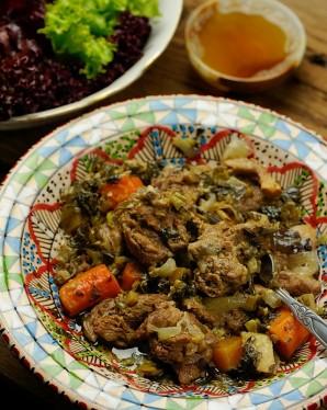 Баранина с овощами в духовке - фото шаг 4