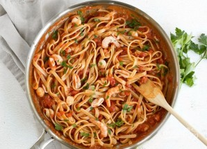Итальянская паста с морепродуктами - фото шаг 7