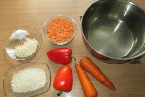 Постный чечевичный суп - фото шаг 1