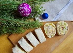 Лаваш с консервами и сыром - фото шаг 7