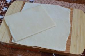 Торт из слоеного бездрожжевого теста - фото шаг 2